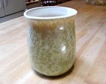 Ceramic Vase Utensil  Holder Crystalline Pottery Handmade Brush Holder