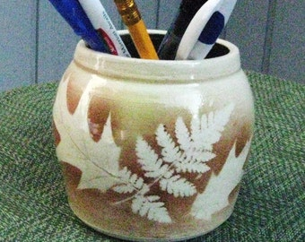 Ceramic Pottery Pencil Holder Brush Holder Handmade Ceramics Vase Flower Vase Home Decor Pencil Jar Pottery  Toothbtrush Holder Pottery Vase