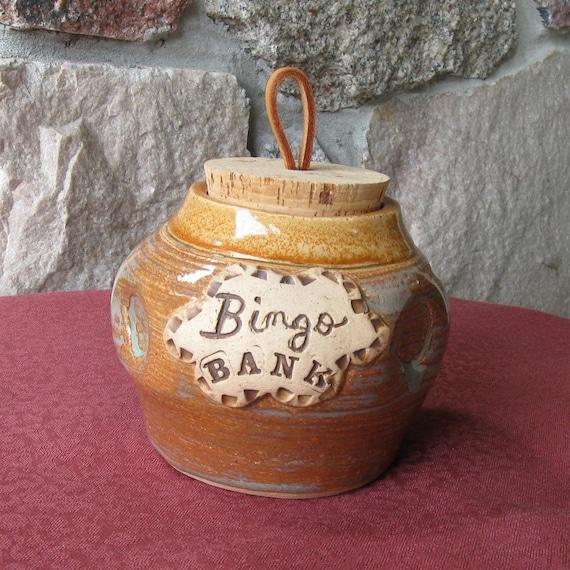 Bingo Bank Handmade Pottery Stoneware Clay