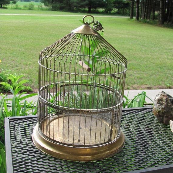 Reserved For Randi Vintage Brass Bird Cage Wedding Card Holder  Bridal Decor birdcage
