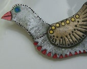 SALE - Bird - Polymer Clay Brooch