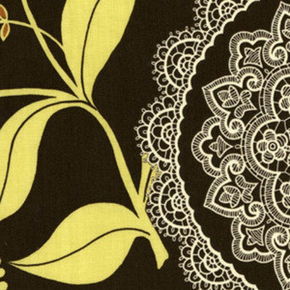 1 yard of Amy Butler Lotus Lacework in Olive