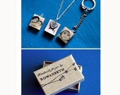 Wooden Scrabble Tile WITH YOUR PHOTO Necklace/Keyring