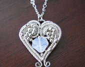Double Heart Wire Wrapped Necklace