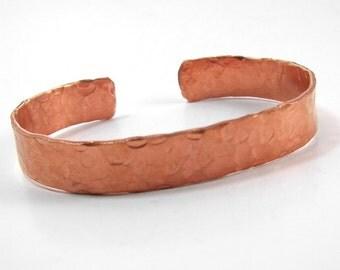 Hammered Copper Cuff - Copper Natural Cuff - Unisex Copper Bracelet
