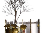 RETRO - Mixed Metal WALL SCULPTURE -Park Station in the Rain - signed by Curtis Jere