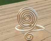 Wire Wrapped Ring Silver Spirals