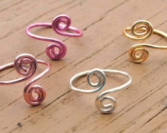 Wire Ring,Toe Ring, Knuckle Ring, Midi Ring, Wire Ring, Wire Ring Set of 4 Non Tarnish Silver Plated Wire