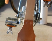 wooden bicycle fenders with leather mudflaps