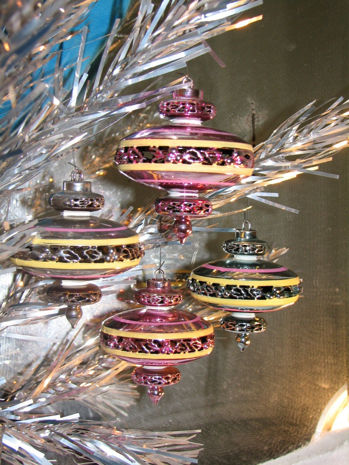 1950s Mid Century Christmas Ornaments by Bradford Space Age