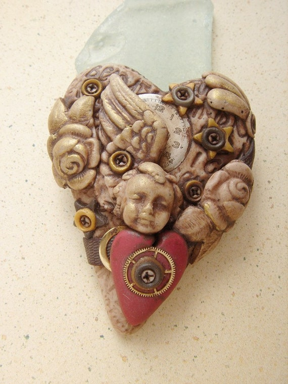 Heart of Stone Brooch 1 Angel love