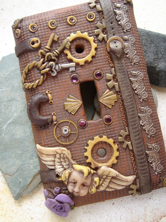 Steampunk Light Switch Plate Cover 3