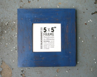 Distressed Denim Blue ExtraWide Frame (5 x 5 in)