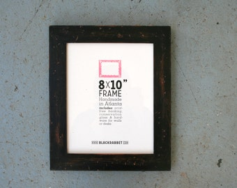 Distressed Rustic Black Picture Frame (8 x 10 in)