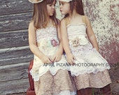 Flower Girl Custom Tea Party Dress-Ruffled layers, lace, birthday, prairie, wedding, burlap, handmade, boots, farm, cowboy, cowgirl, love