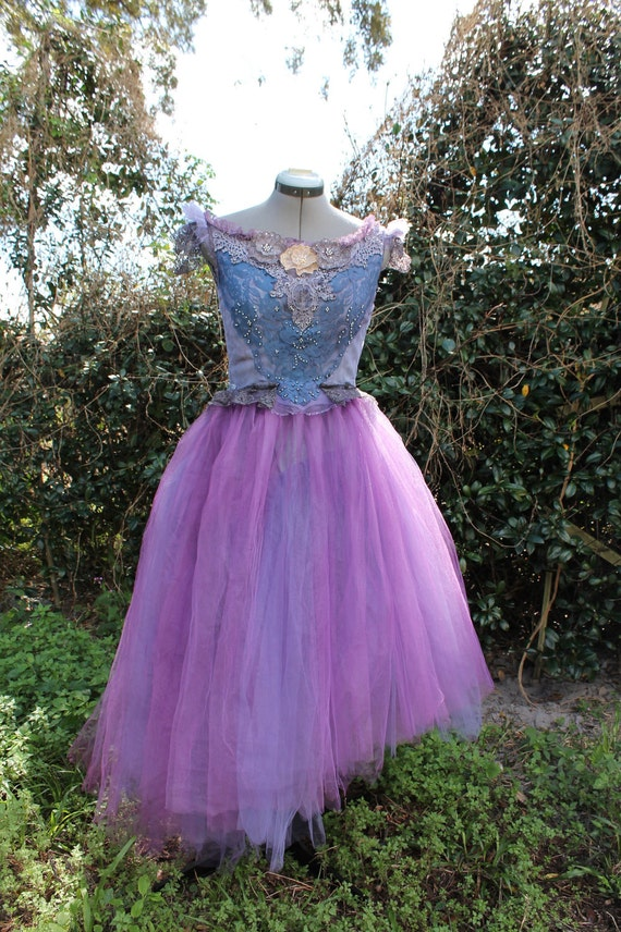 SALE- Prom party dress- Eco-dress- Marie Antoinette Watercolor Steampunk- Ready to ship