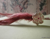 Pretty in Pink Feather Sparkly Headband