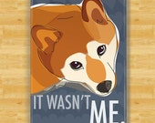 Shiba Inu Magnet - It Wasn't Me - Shiba Inu Gifts Dog Fridge Refrigerator Magnets