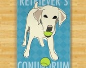 Funny Dog Magnets with Labrador Retriever - Retrievers Conundrum - Yellow Lab Gifts Fridge Refrigerator Funny Dog Magnets