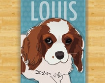 Personalized Cavalier King Charles Spaniel Custom Dog Magnet Gift