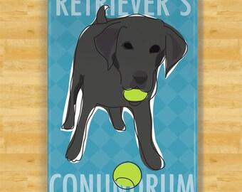 Labrador Retriever Magnet - Retrievers Conundrum - Black Lab Gifts Dog Fridge Refrigerator Magnets