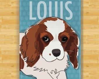 Personalized Cavalier King Charles Spaniel Custom Dog Magnet Gift
