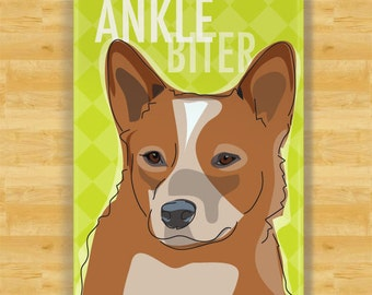 Australian Cattle Dog Red Heeler Gifts Refrigerator Magnets with Funny Sayings - Ankle Biter