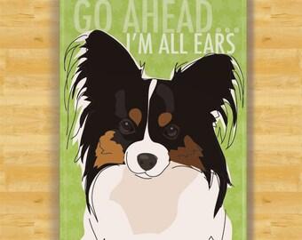 Papillon Refrigerator Magnet - Go Ahead I Am All Ears - Papillon Gifts Dog Fridge Refrigerator Magnets