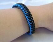 Blue & Black Stretchy Bracelet