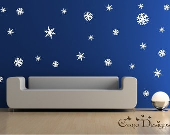 24 Snowflakes 4 Sizes Vinyl Decals