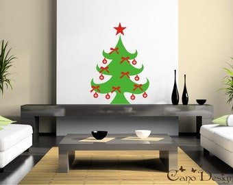 Christmas Tree Vinyl Decal Sticker - Holidays decals stickers