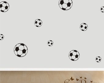 Soccer Ball 18 Set, Vinyl decals,nursery, kids room, teens room, removable decals stickers