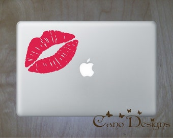 Kiss Laptop Skin Vinyl Decal - LipsVinyl decal sticker