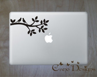 Lovely Birds on Tree Branch Laptop Skin Vinyl Decal - Branch Vinyl decal sticker, birds decals stickers