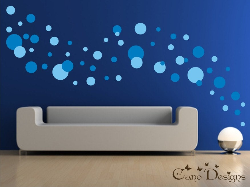 Polka Dots 2 Colors 5 Sizes Vinyl wall decals stickers