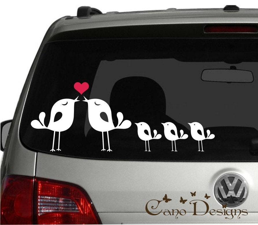 Lovely Bird Family Car Vinyl Decals Stickers Windows Decals - Family decal stickers for cars