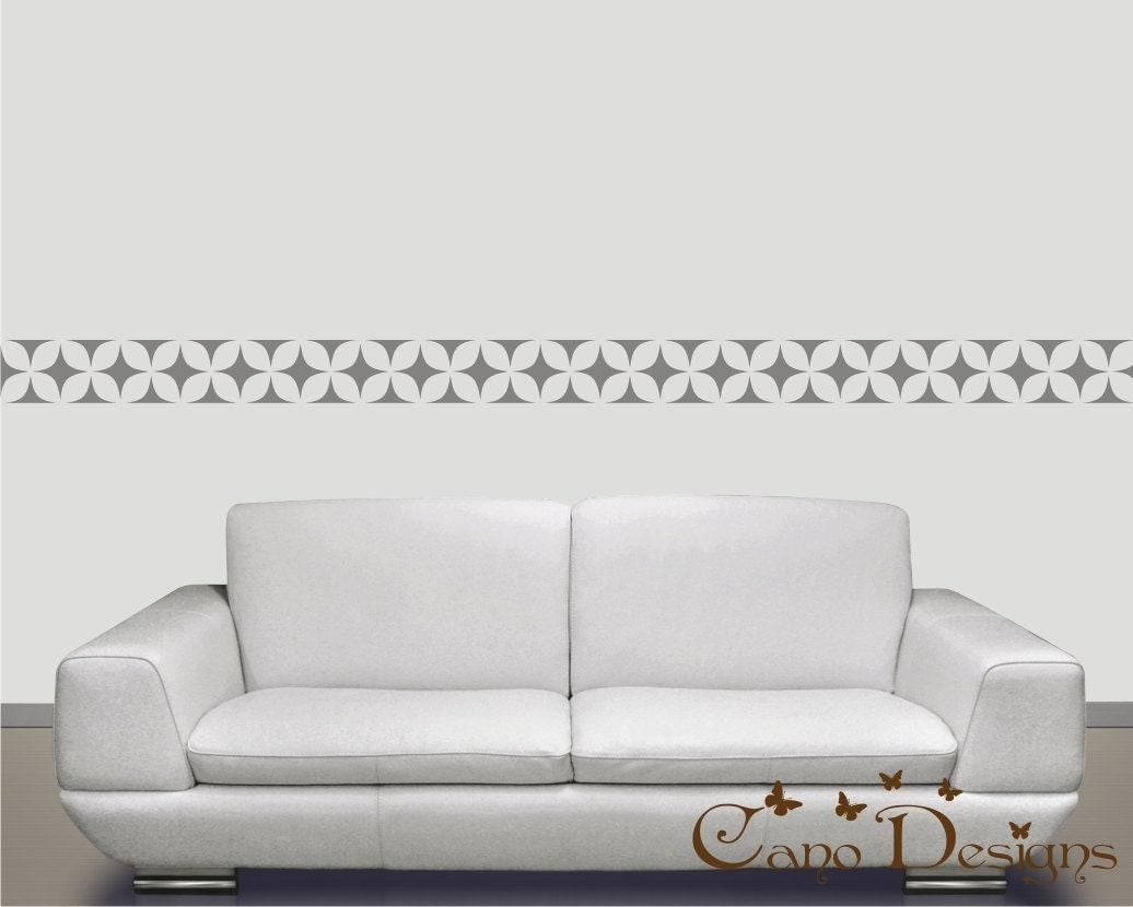 Border vinyl wall decal 14 ft long home decor removable for Vinyl wallpaper for walls