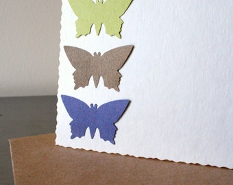Pastel butterfly cards