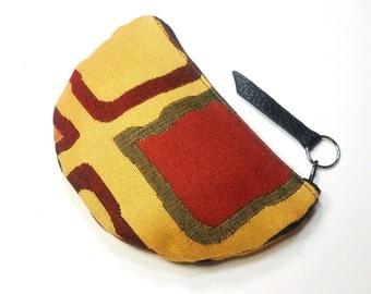 Color Block Petite Zippered Pouch