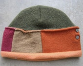 Pumpkin Orange and Army green watch style hat