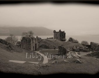 Urquhart Castle Ruins Scotland Photograph - Free Shipping -