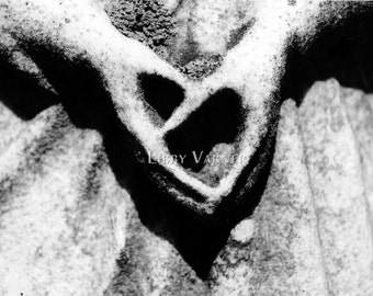 Heart in Hands Black and White Fine Art Photograph - Free Shipping in US-