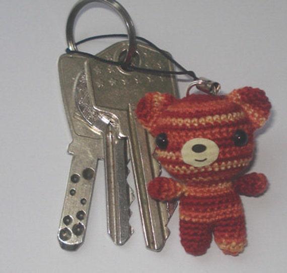 Crochet Litte Bear cell phone charm - 01