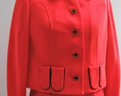 Fabulous Vintage 1960s Red Mod Dress with Jacket
