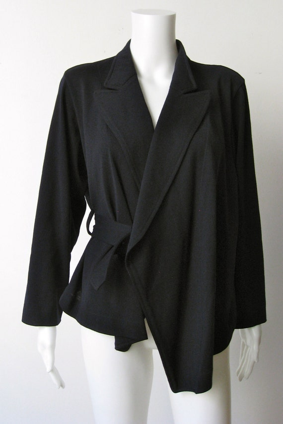 Blazer-Incredible Navy Wool 1980s Avant Garde Comme des Garcons