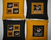 University of Missouri TIGERS Cornhole Corn Toss Bean Bag Baggo Bags Set of 8