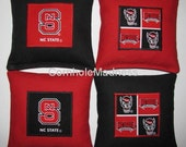 NC State WOLFPACK Cornhole Corn Toss Bean Bag Baggo Bags Set of 8