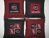USC South Carolina GAMECOCKS Cornhole Corn Toss Bean Bag Baggo Bags Set of 8