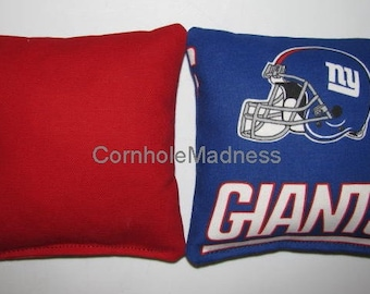 NFL New York GIANTS Cornhole Bags Corn hole Corn Toss Baggo Set of 8