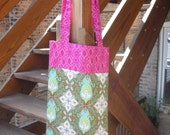 Large Calliope Bag--Green and magenta